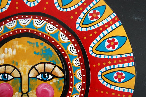 Folk Art Sun - Detail
