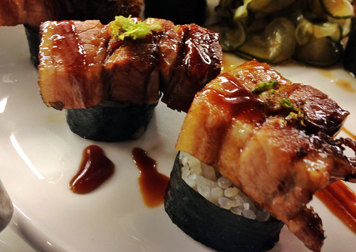 California Grill - Pork Belly Sushi