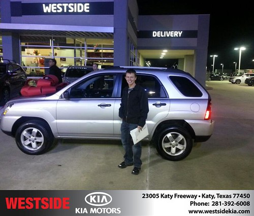 Thank you to Stephen Kilber on your new 2009 #Kia #Sportage from Rubel Chowdhury and everyone at Westside Kia! #NewCarSmell by Westside KIA