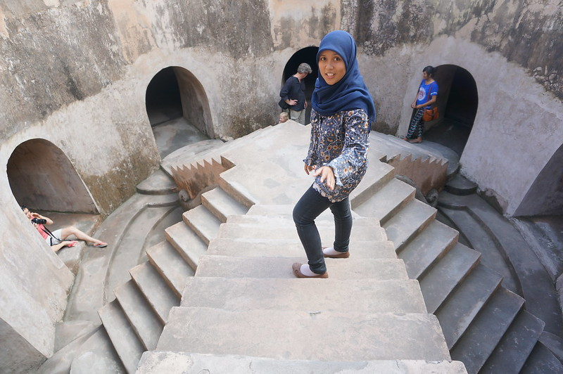 Our 'student guide' at the Water Castle in Yogyakarta