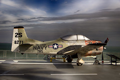aviation, military aircraft, airplane, propeller driven aircraft, wing, vehicle, north american t-28 trojan, flight,