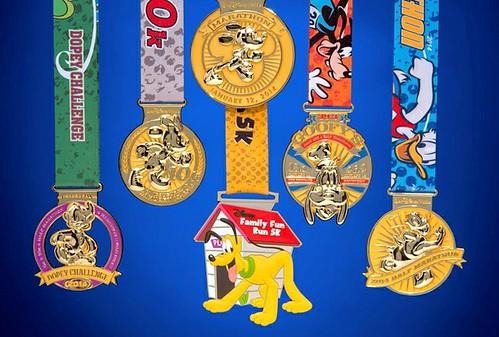 Medallas Walt Disney World Maraton 2014
