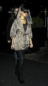Rihanna Leopard Print Coat Celebrity Style Women's Fashion
