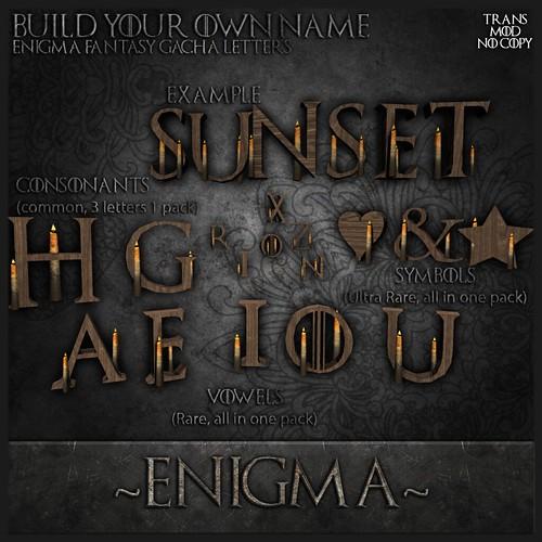 _Enigma_ Fantasy Gacha Letters