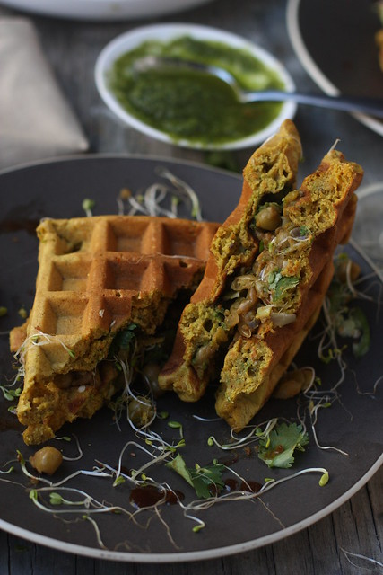 Whole Grain Savory Waffles 4
