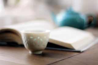 good book and tea...