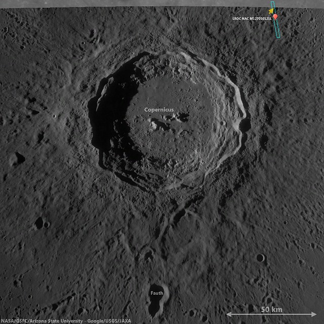 Copernicus context for LROC NAC M127050121LE