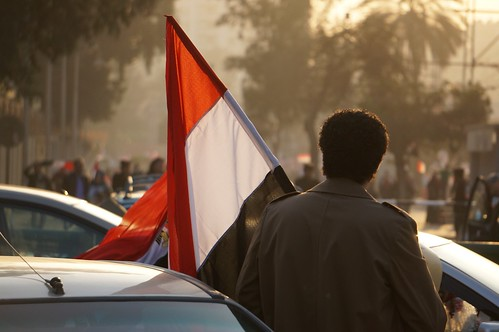 Man carrying Egyptian flag | by Doctor Power