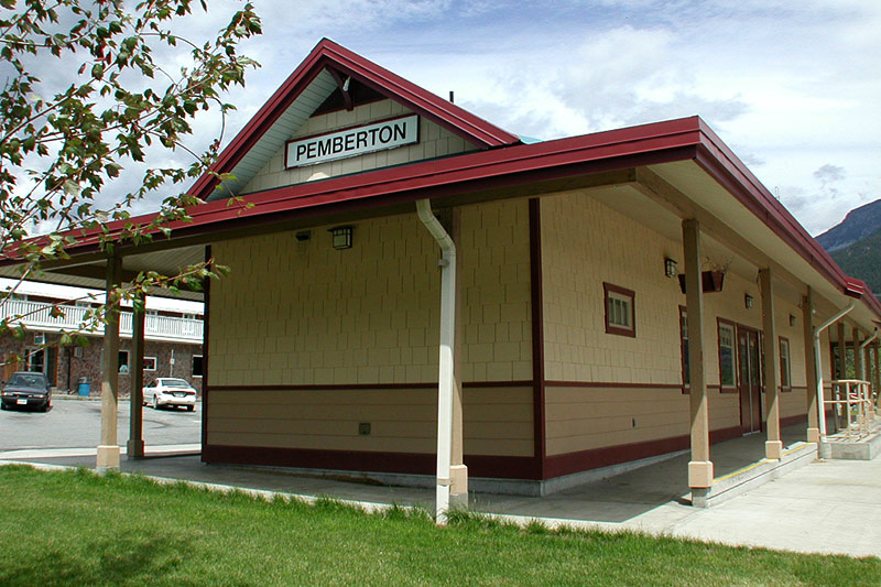 Railway Station, Pemberton, Pemberton Valley, British Columbia, Canada
