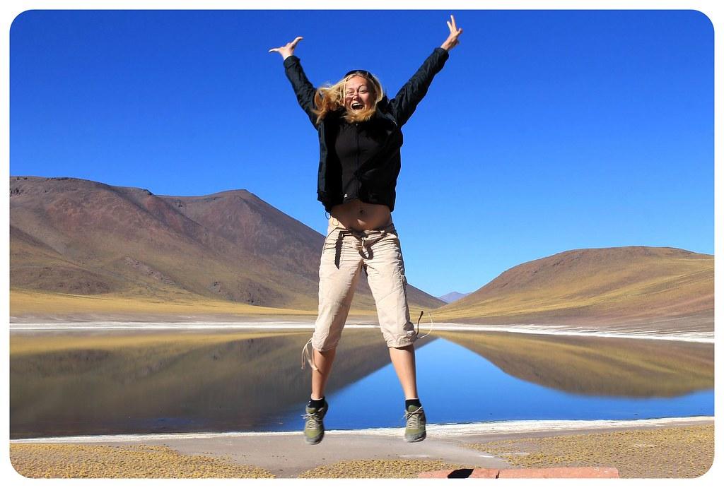 laguna Miscanti atacama desert dani jumping