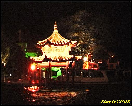 杭州 西湖 (其他景點) - 323 (在西湖十景之 柳浪聞鶯 (近古湧金門) 看西湖湖濱路及西湖畔夜景)