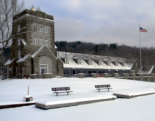 North Park boathouse:  Standing on the Lake