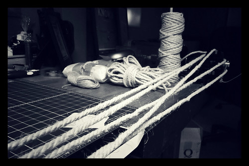 I enjoy how zen cutting down the rope is.   Clamp end Roll out 5 feet Turn Roll out 5 feet Smell it Roll out 5 feet...
