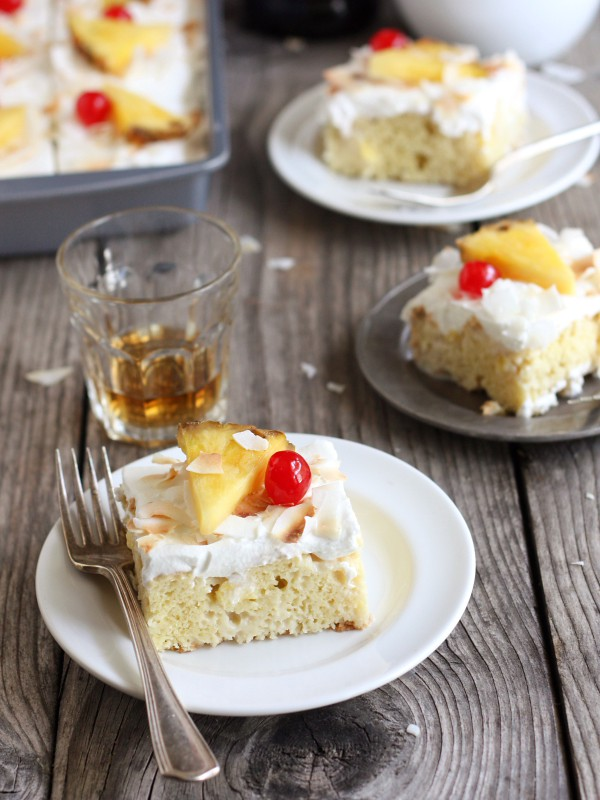 Pina Colada Tres Leches Cake from completelydelicious.com