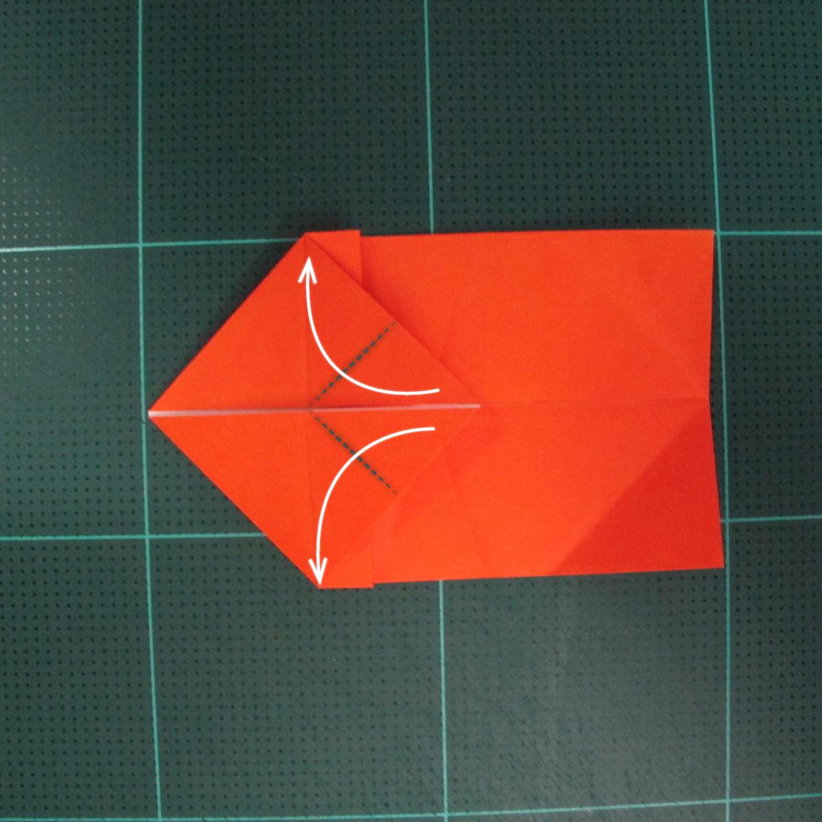 การพับกระดาษเป็นรูปปลาทอง (Origami Goldfish) 008