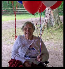 grandma on her 91st birthday