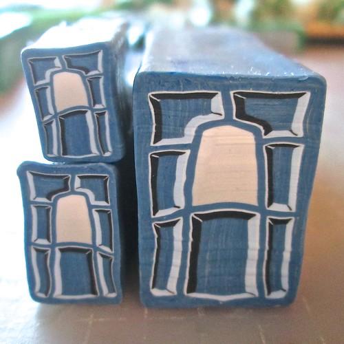 Rustic Blue Door Cane