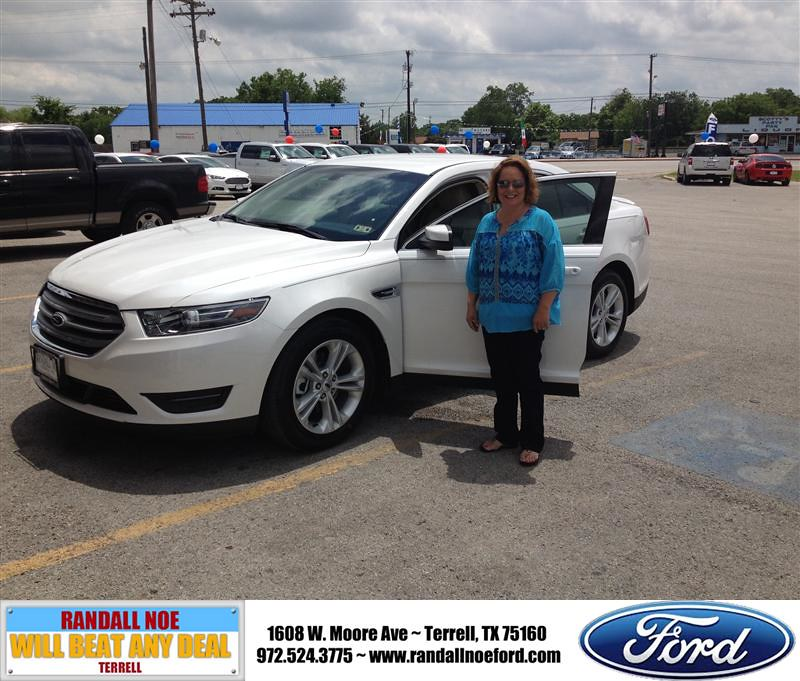 Randall Noe Ford >> Congratulations To Candie Mcbroom On Your Ford Taurus Pu