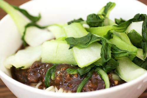 dry noodles w/ pork @ lam zhou