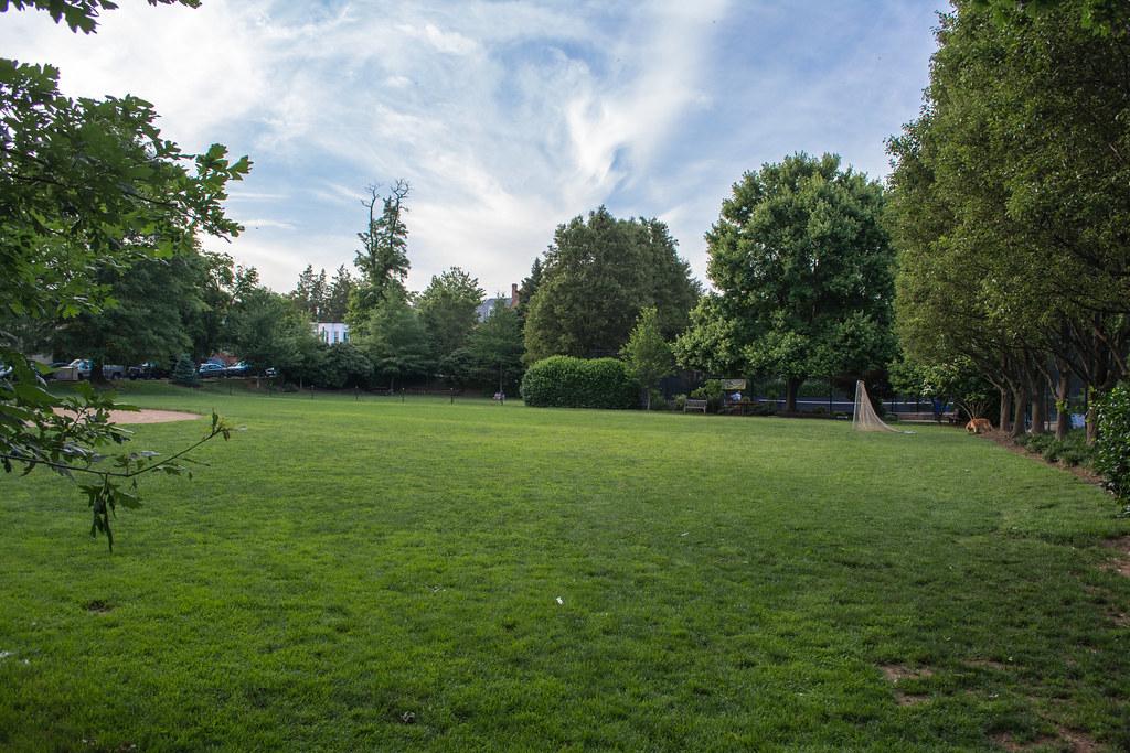 looking N through center of Volta Park - Washington DC