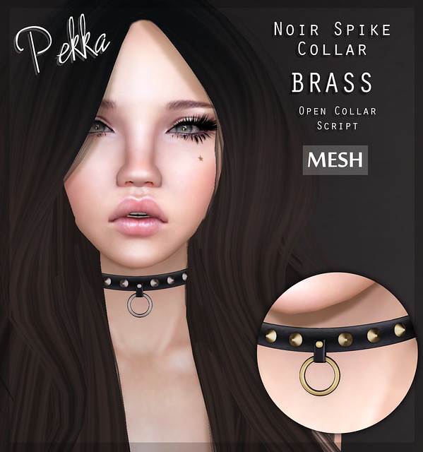pekka noir spike collar brass