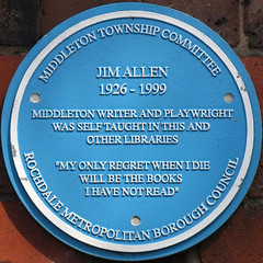 Photo of Jim Allen blue plaque