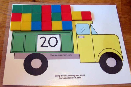 Fill the Dump Truck Mat (Photo from The Measured Mom)