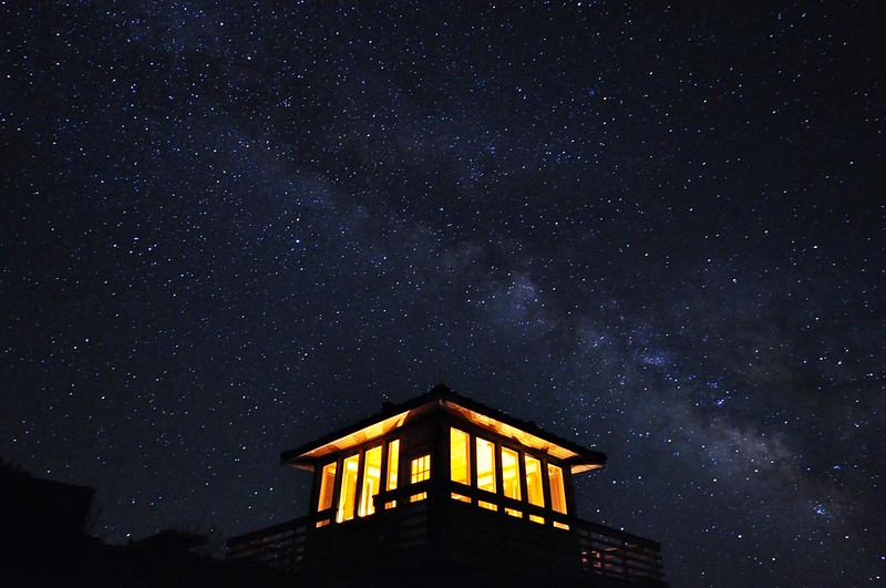 Stars over the lookout