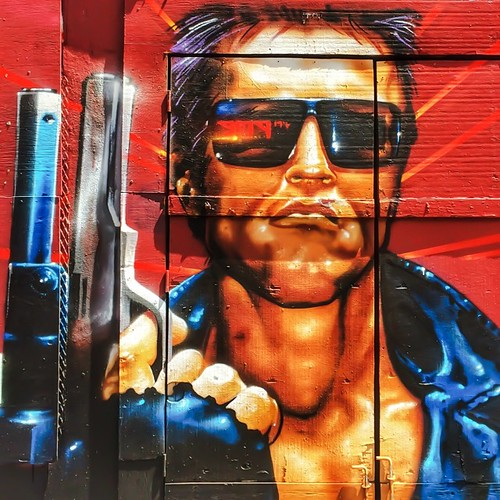 I'll be back. #sanfrancisco #streetart #graffiti #sf #bayarea #tenderloin #color #terminator