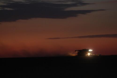Burning the night oil.