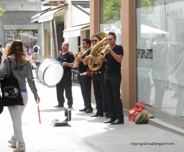 Оркестр на улицах Пулы