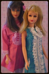 Mod Barbie and Francie