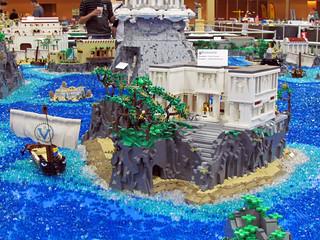 Circe's island. VirtuaLUG's Odyssey Brickworld 2014 display.