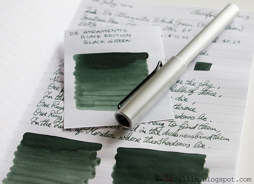 De Atramentis Black Green with Lamy AL-Star