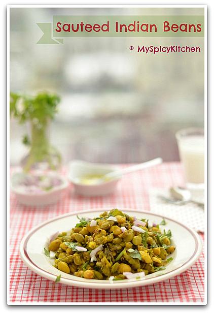 Sauteed Valor Lilva, Sauteed Indian Beans, Chikkudu Ginjalu, Chikkudu,  blogging marathon, no carb salad, low carb salad, Sauteed Legumes