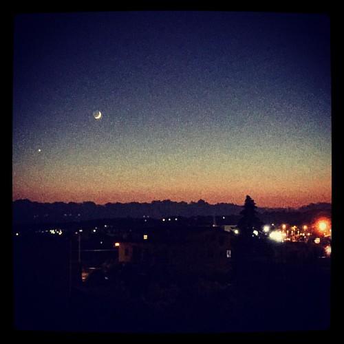 afterthesunset  #afterthesunset #moon #venere #venus #ottobre #october
