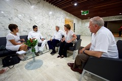 U.S. Secretary of State John Kerry, watched by Under Secretary of State for Political Affairs Thomas Shannon, sits with Venezuelan President Nicolás Maduro and their respective translators inside the Cartagena Indias Convention Center in Cartagena, Colombia, on September 26, 2016, at the outset of a bilateral meeting after they both attended a peace ceremony between the Colombian government and the Revolutionary Armed Forces of Colombia (FARC) that ended a five-decade conflict. [State Department Photo/Public Domain]