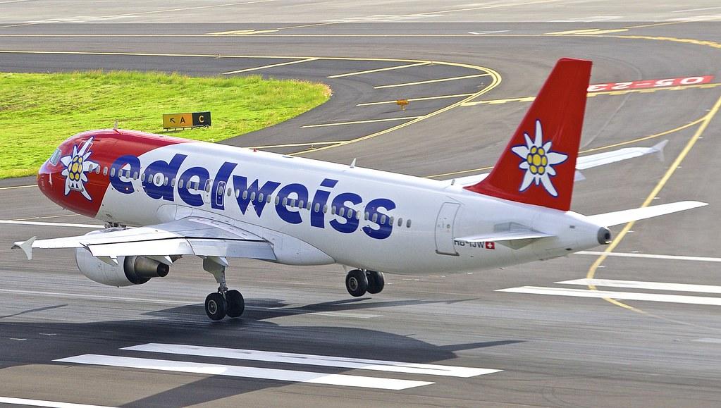 FNC/LPMA: EdelweissAir Airbus A320-214 HB-IJW