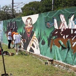 Em processo ... 💪   #graffitiart #graffitibrasil #joksjohnes #questione #perusferia #painel #floresta