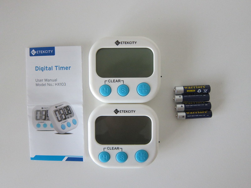 Etekcity Digital Timer - Box Contents