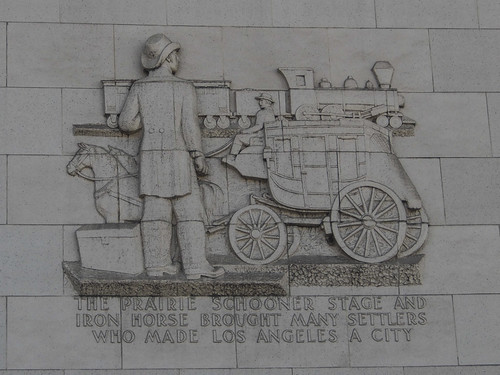 #InterestingHistoricalFactsLosAngeles...Monument downtown on Hill detailing the history of this spot....