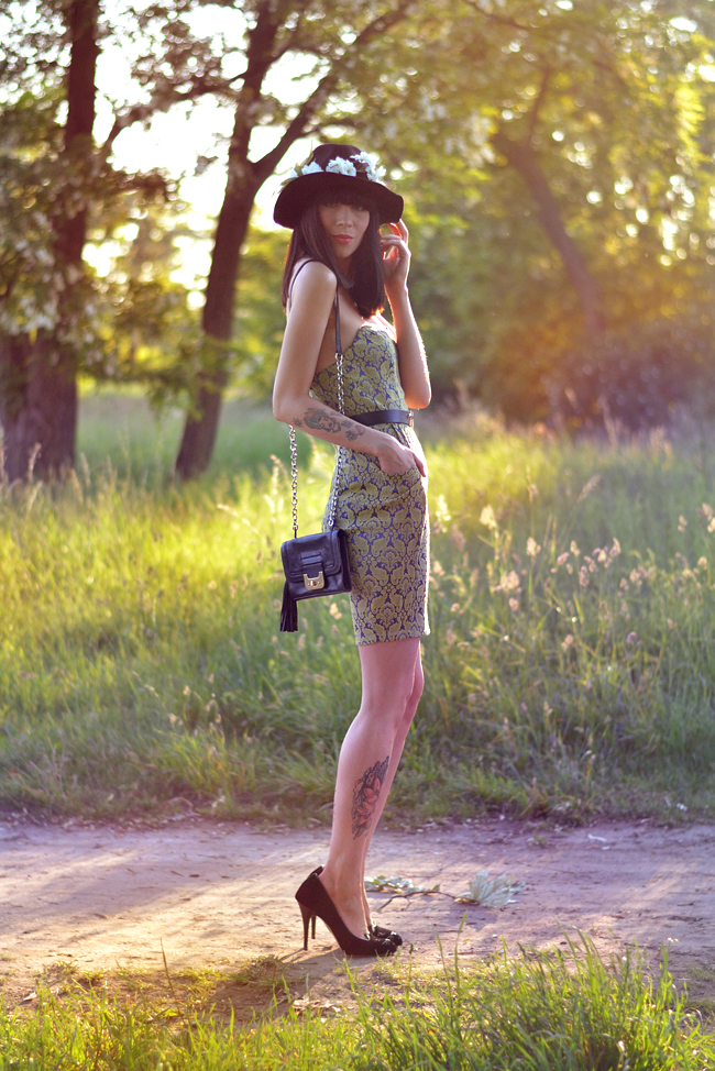 Outfit AX Paris baroque dress sunset 6