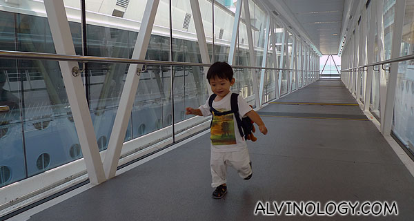 Asher, 2, on his first cruise with Royal Caribbean back in 2013