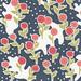matisse's winter garden - navy blue, pink