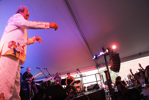 Allen Toussaint, on Aug 2, 2013, at Satchmo Fest. photo by Bill Sasser)