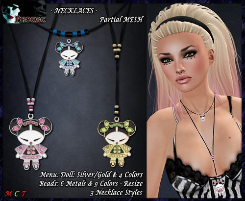 P Chinese Doll Necklaces (P-MESH)