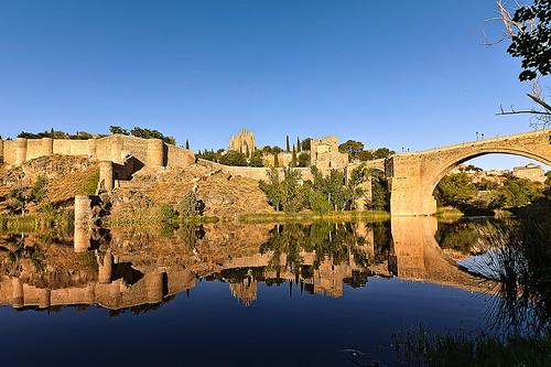 sunset españa río river atardecer mirror spain toledo reflejo puestadesol tranquilidad toletum