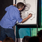 Live drawing with Jura Unbound and Illicit Ink |