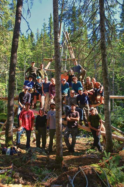 Équipe du pont Harfang 2013 Photo d'Émilie Robitaille