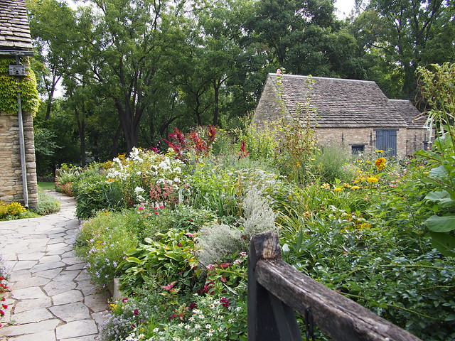 English Limestone Cottage with Garden in full bloom